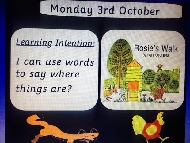Rosie's Walk introductory Flipchart slides