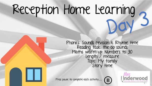 RECEPTION HOME LEARNING VIDEO DAY 3