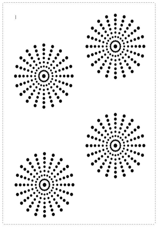 DOTS FOR PAINTING WITH COTTON BUDS