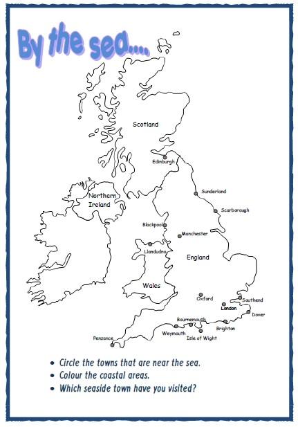 MAP OF UK FOR COASTAL WORK