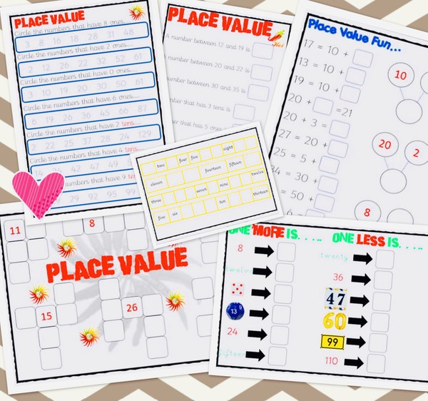 6 X PLACE VALUE IDEAS -PDF