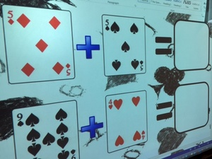 PLAYING CARD ADDITION SUMS