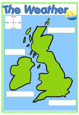 WEATHER MAP AND SYMBOLS UK