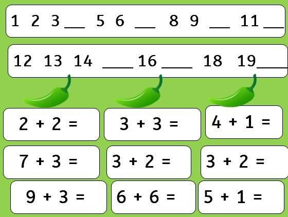 3X PDF CHILLI CHALLENGE MATHS ADDITION CALCULATIONS