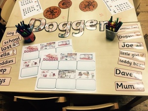 Three worksheets to support the story DOGGER