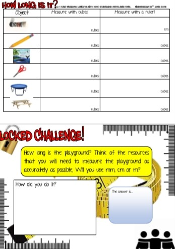 MEASURE THINGS AROUND THE ROOM AND CHALLENGE