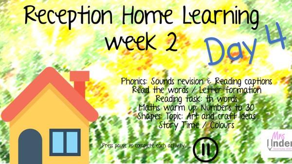 RECEPTION WEEK 2 DAY 4