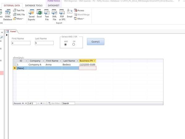 VBA Beginner - VBA Queries - P2 - Nifty Access