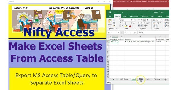 Export Query into Separate Excel Sheets - Nifty Access