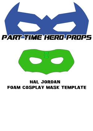 Nightwing Foam Cosplay Mask template - Part Time Hero Props