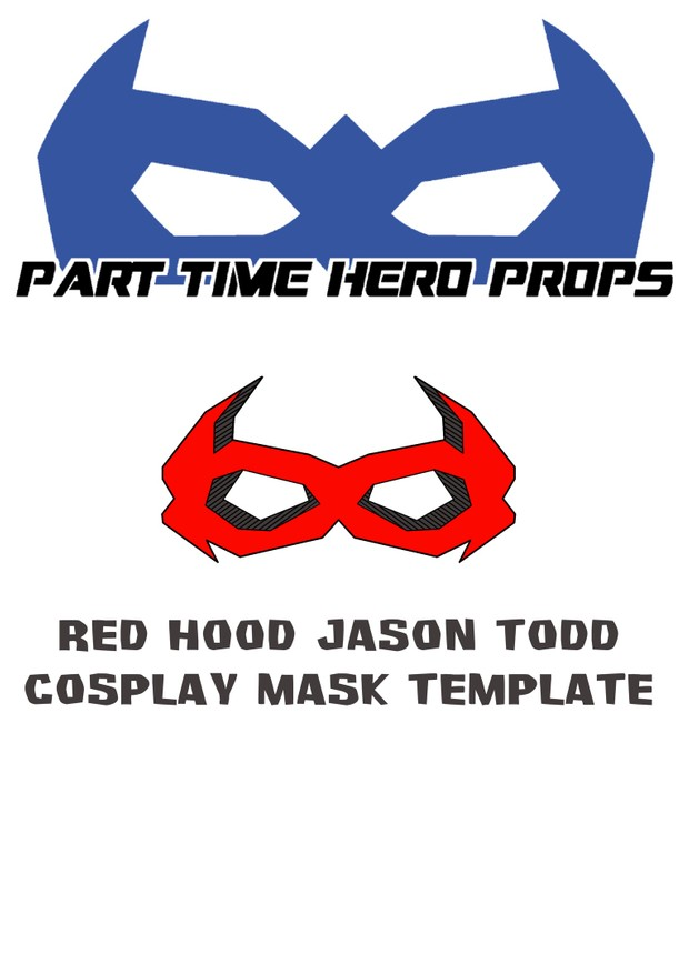 Jason Todd Red Hood Cosplay Mask Template