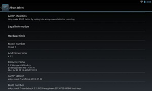 Android 4.2.2 for the Dell Streak 7 - Linux
