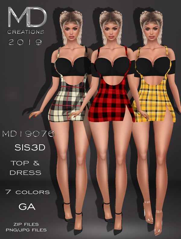 MD 19076 - Top and Dress - Sis3D - Texture - IMVU