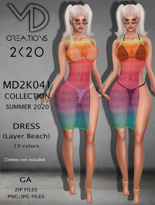MD 2K041 - Dress Layer - Beach - Summer 2020 Collection - IMVU - Textures