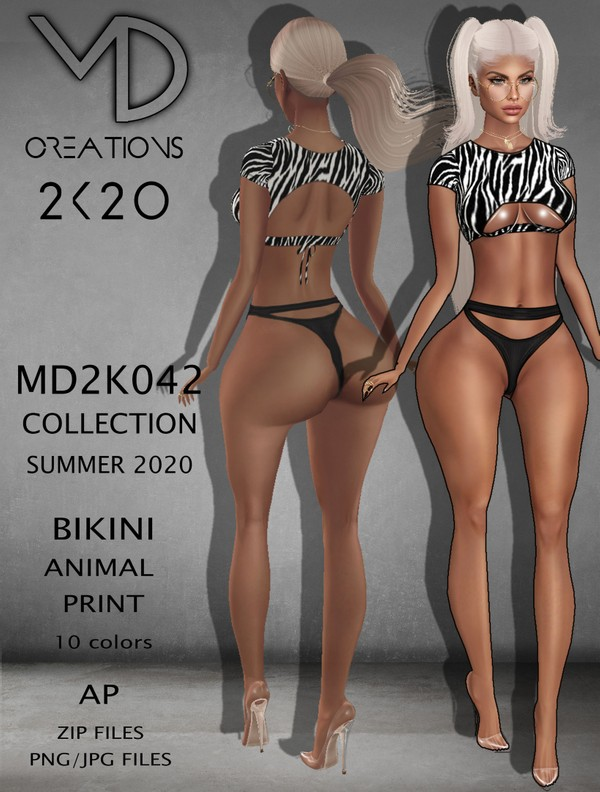 MD 2K042 - Bikini Animal Print - Summer 2020 Collection - AP - IMVU - Textures