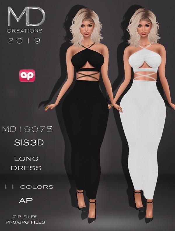 MD 19075 - Long Dress - Sis3D - Texture - IMVU