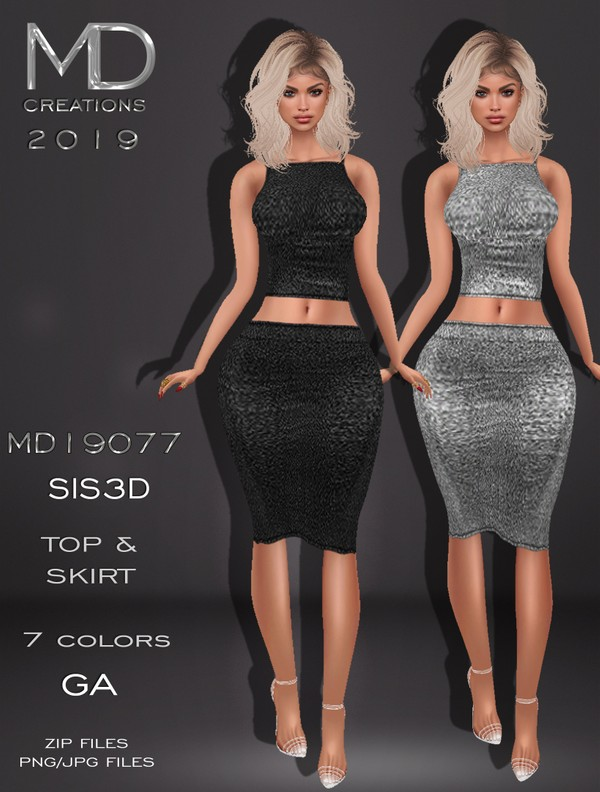 MD 19077 - Top and Skirt - Texture - IMVU - Sis3D