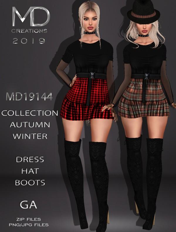 MD 19144 - Dress - Autumn/Winter Collection - IMVU - Textures