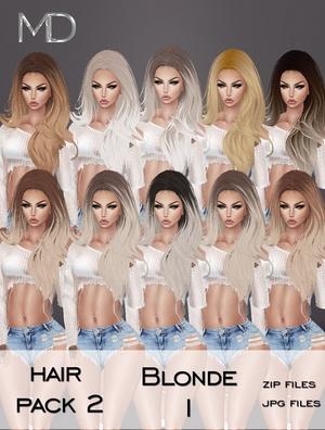 Hair - Pack 2 - Blonde 1
