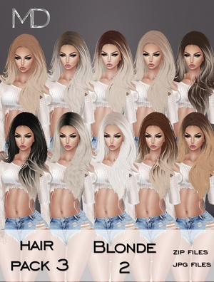 Hair - Pack 3 - Blonde 2