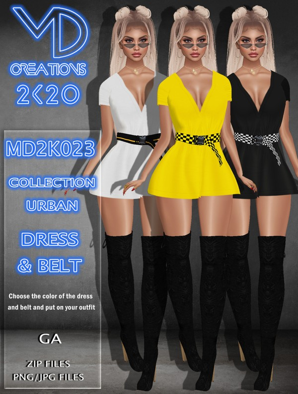 MD 2K023 - Basic Urban Dress - IMVU - Textures