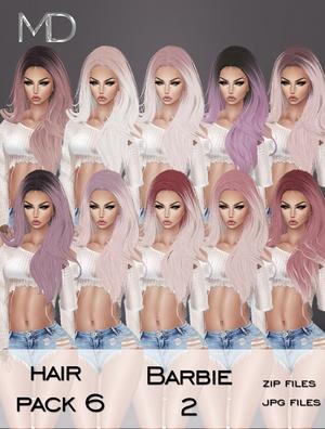 Hair - Pack 6 - Barbie 2