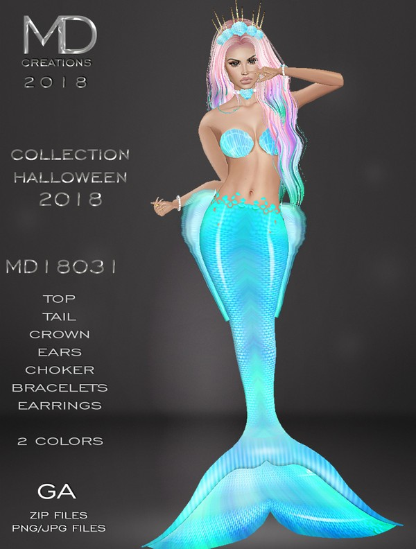 MD 18031 - Mermaid - Collection Halloween 2018