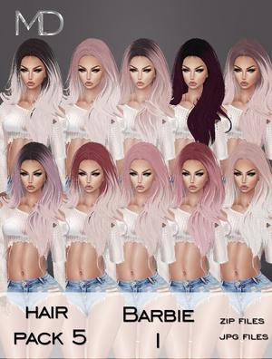 Hair - Pack 5 - Barbie 1