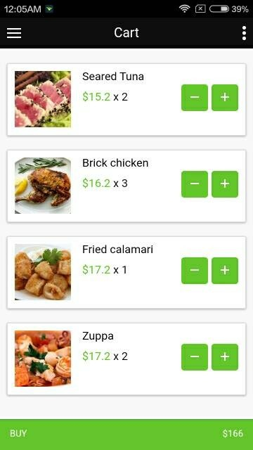 Food delivery theme for ionic