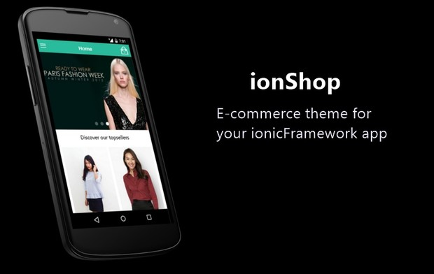 ionShop - template for e-commerce app
