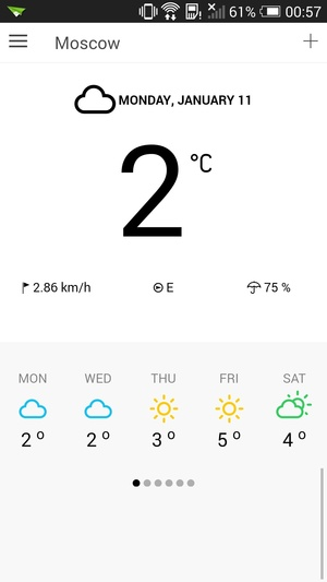 ionWeather - weather template for ionic
