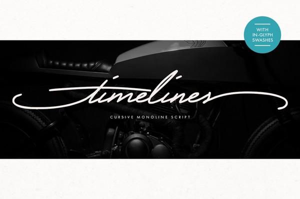 Timelines - Script Font