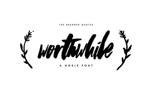 Worthwhile Typeface