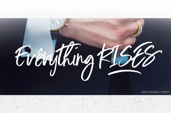 Everything RISES - Script Typeface