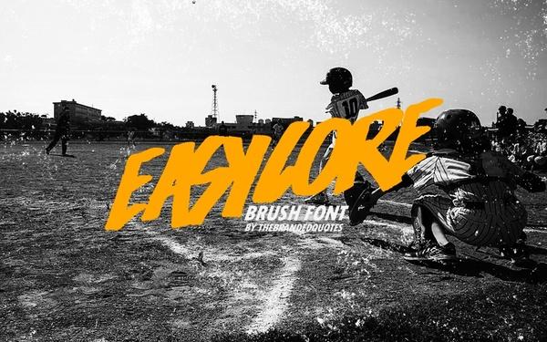 Easycore Brush Font