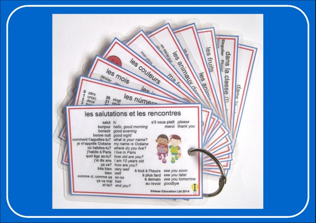 French Pocket Cards - set 1
