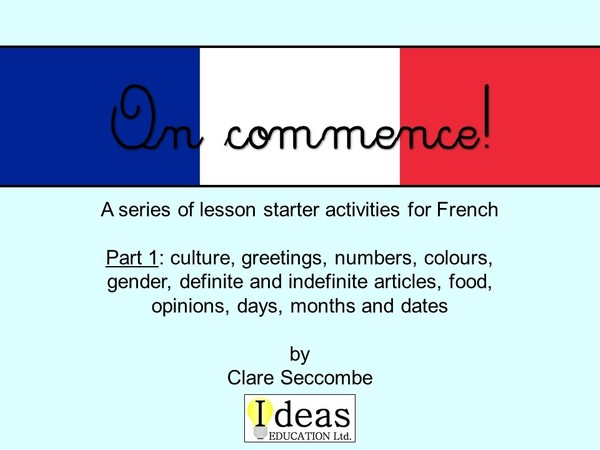 On commence! - French lesson starters
