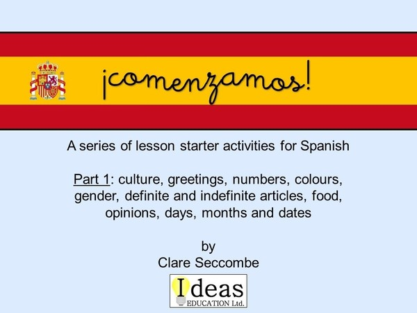 ¡comenzamos! - Spanish lesson starters