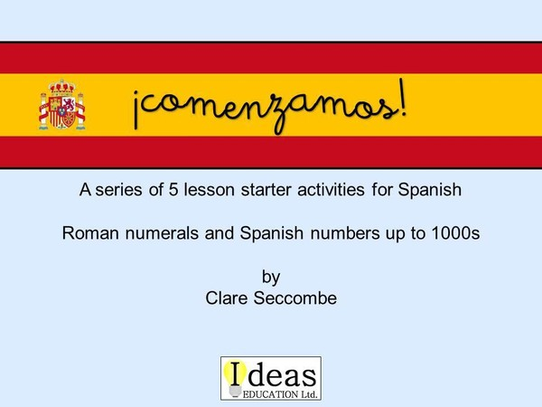 ¡comenzamos! - Spanish number starters