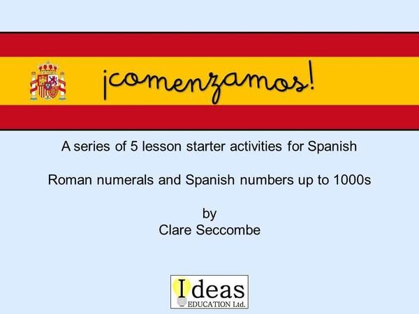¡comenzamos! - Spanish number starters