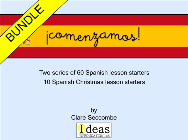¡comenzamos! - Spanish lesson starters - Bundle