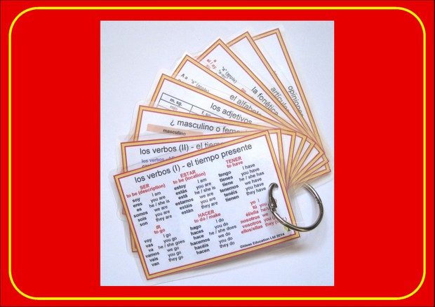 Spanish Pocket Cards - set 2