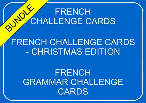 French Challenge Cards - Bundle