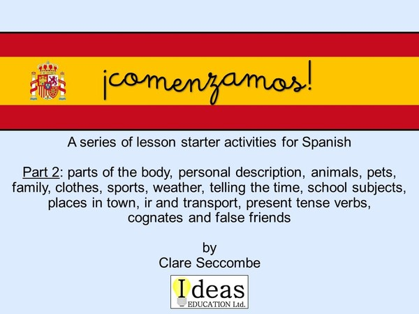 ¡comenzamos! part 2 - Spanish lesson starters