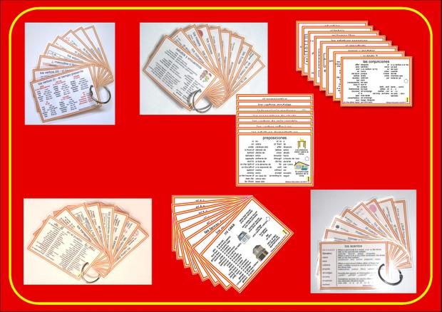 Spanish Pocket Cards, sets 1-7