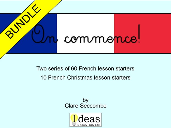 On commence! - French lesson starters bundle