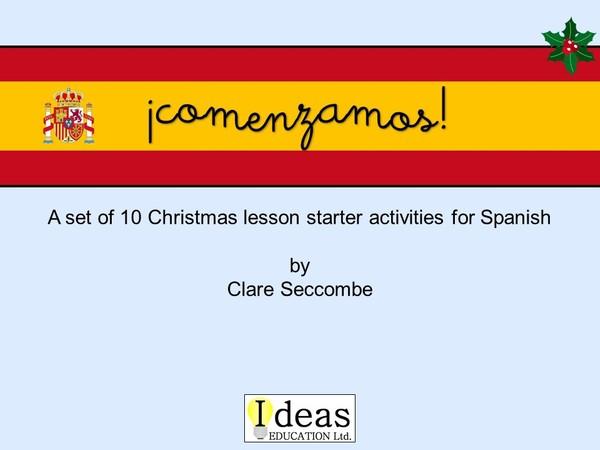 ¡comenzamos! - Spanish Christmas starters