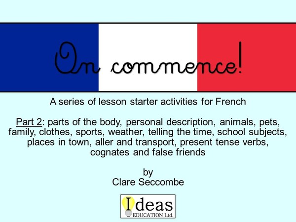 On commence! - French lesson starters part 2
