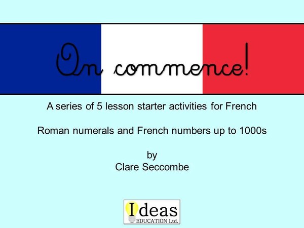 On commence! - French number starters