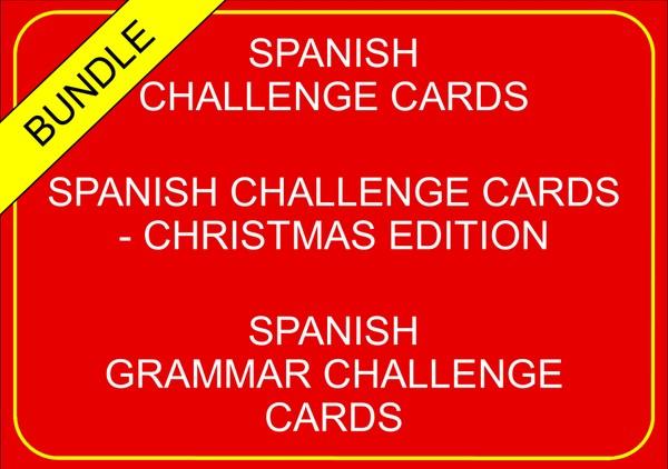 Spanish Challenge Cards - Bundle
